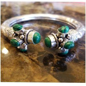 """Jewelry - MALACHITE Bangle Adjustible 6.5 - 8"""""""